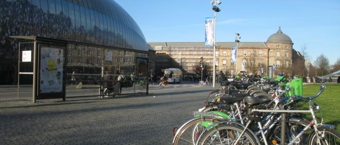 La place de la gare à Srasbourg